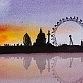 London Skyline At Sunset by Donna Walsh