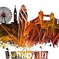 London Skyline  by Justyna JBJart