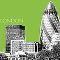 London Skyline The Gherkin Building - Olive by DB Artist
