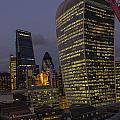 London Skyline Through A Fence by V C Yang