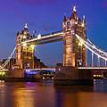 London - Tower Bridge During Blue Hour by Melanie Viola