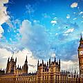 London Uk Big Ben The Palace Of Westminster by Michal Bednarek
