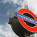 London Underground Sign And The Shard by Chris Mellor