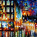 Londons Lights - Palette Knife Oil Painting On Canvas By Leonid Afremov by Leonid Afremov