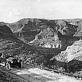 Lone Car In Fish Creek Canyon by Underwood Archives