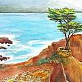 Lone Cypress California by Carlin Blahnik CarlinArtWatercolor