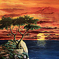 Lone Cypress by Mary Palmer