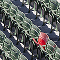 Lone Red Number 21 Fenway Park by Susan Candelario