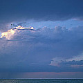 Lone Thunderstorm On Lake Erie by John Harmon