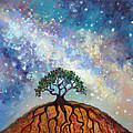 Lone Tree And Milky Way by Cedar Lee