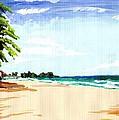Lonely Beach by Zaida Sanabria