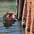 Lonely Boat In Venice by Richard Booth