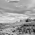 Lonely Cloud And Totem Pole - Monument Valley Tribal Park Arizona by Silvio Ligutti