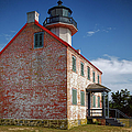 Lonely East Point Lighthouse by Joan Carroll