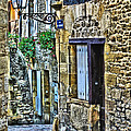 Lonely Lane In Sarlat France by Greg Matchick
