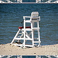 Lonely Lifeguard Station At The End Of Summer by Rose Santuci-Sofranko