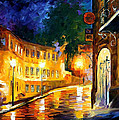 Lonely Night - Palette Knife Oil Painting On Canvas By Leonid Afremov by Leonid Afremov