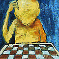 Lonesome Chess Player by Michal Boubin