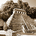 Long Ago In Mayan Palenque by Mark E Tisdale