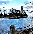 Long Beach Bay / Paintbrush Effect by Robert Butler