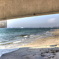Long Beach From Beneath The Pier by Heidi Smith