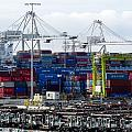 Long Beach Harbor Containers by Jeff Lowe