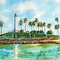 Long Beach Lighthouse  Version 2 by Debbie Lewis