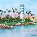 Long Beach Oil Island by Debbie Lewis