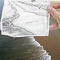 Long Beach Shoreline / Torn Sketch Effect by Robert Butler