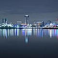 Long Beach Skyline by Heidi Smith