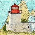 Long Eddy Pt Lighthouse Nb Canada Chart Art Peek by Cathy Peek