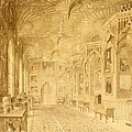 Long Gallery At Strawberry Hill by Thomas Sandby