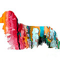 Long Haired Dachshund 2 by Watercolor Girl