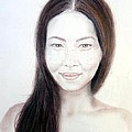 Long Haired Natural Asian Beauty by Jim Fitzpatrick