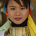 Long Necked Woman Of Thailand by Bob Christopher