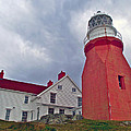 Long Point Lighthouse In Twillingate-nl by Ruth Hager