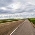 Road To The Sky In Saskatchewan. by Viktor Birkus