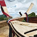 Long Tail Boats Of Krabi by Mary Rogers