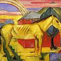 Long Yellow Horse 1913 by Franz Marc
