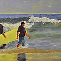 Longboard by Paulette B Wright