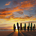 Longboard Sunrise by Turnervisual