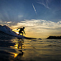 Longboarding Into The Sunset by Kyle Morris