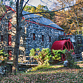 Longfellow's Wayside Inn Grist Mill In Autumn by Jeff Folger
