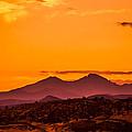 Longs Peak Smoke And Sunset by Rebecca Adams