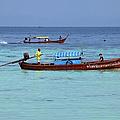Longtail Boat Off Sunrise Beach by John Borthwick