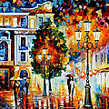 Lonley Couples - Palette Knife Oil Painting On Canvas By Leonid Afremov by Leonid Afremov