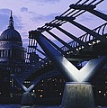 Looking Along The Millennium Bridge by Axiom Photographic