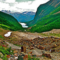 Looking Back To Lake Louise From Trail To Plain Of Six Glaciers In Banff Np-ab  by Ruth Hager