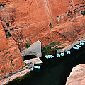 Looking Down At Glen Canyon  by Jeanne May