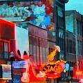 Looking Down Broadway In Nashville Tennessee by Dan Sproul